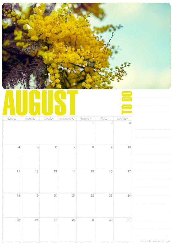 calendar // august