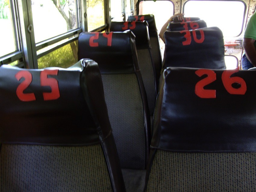 Seats on chicken bus