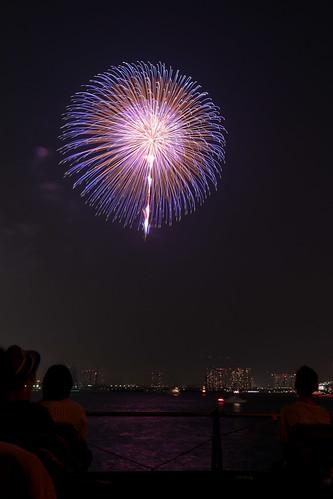 「昇小花 八重芯 錦牡丹 先青光露」 by 堀米三郎 東京湾大華火 2013 Tokyo Bay Grand Fireworks