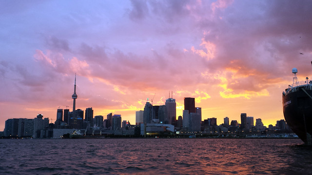 Beautiful light on Toronto