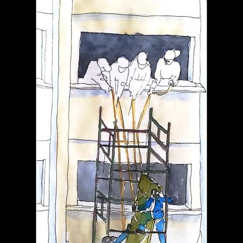 Caligrafia Urbana: equilibrismo #sketch by Dalton de Luca
