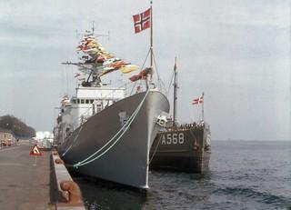 Scandanavian Warships at Copenhagen in 1974
