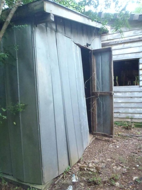delapitated shed