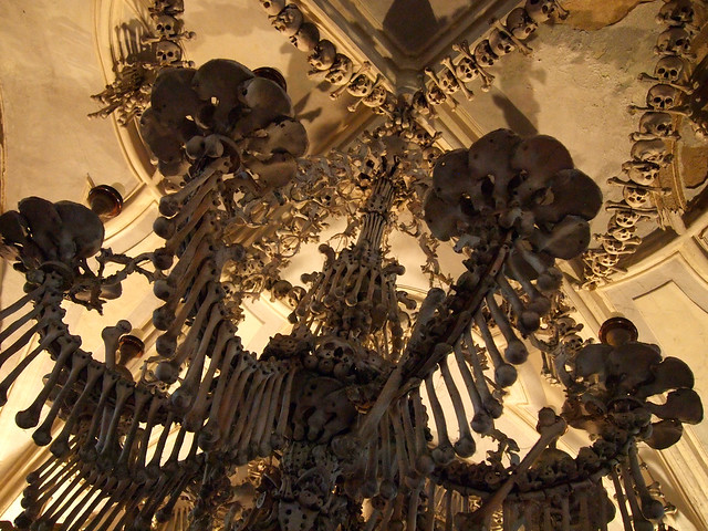 Bone chandelier in Sedlec Ossuary