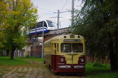 Moscow museum tram MTV-82 and monorail