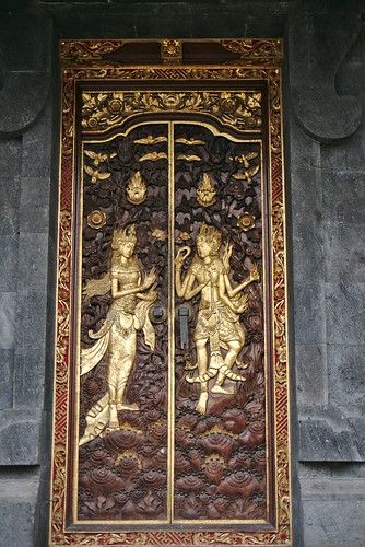 Engravings of Rama and Sita on the doors of a temple, Besakih