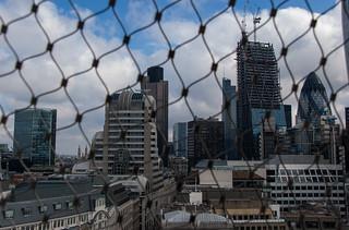 Vue depuis le sommet de The Monument - Quartier de La City