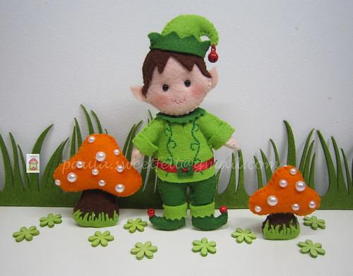 ♥♥♥ Duende que irá morar numa floresta encantada... by sweetfelt \ ideias em feltro