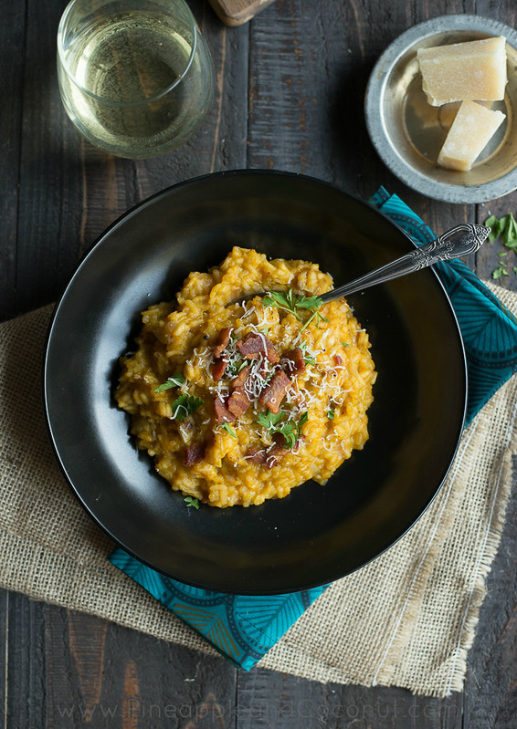 10049339613 4e6a3836cb c Creamy Maple Bacon Pumpkin Risotto #PumpkinWeek
