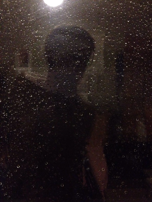 rainy window silhouette