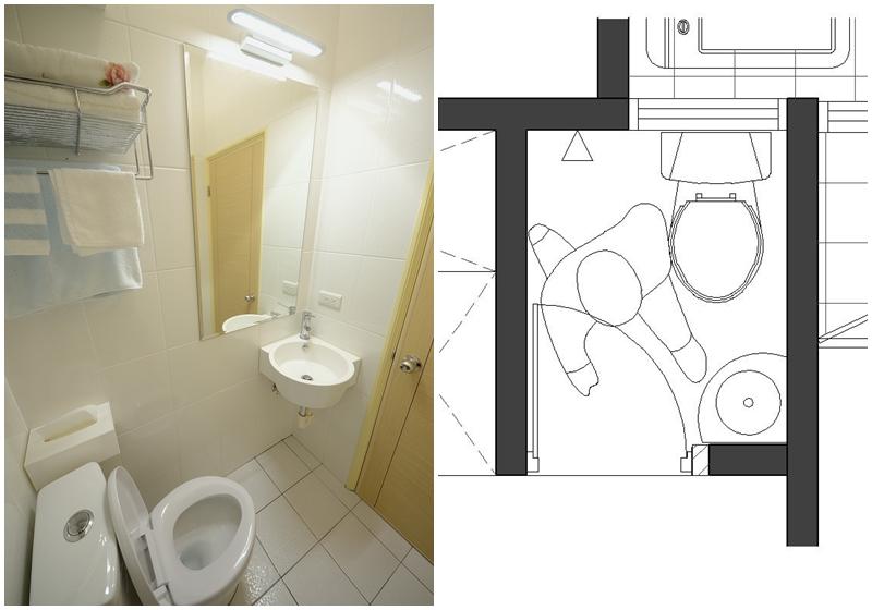 溫馨居家風-小而美的半坪衛浴間