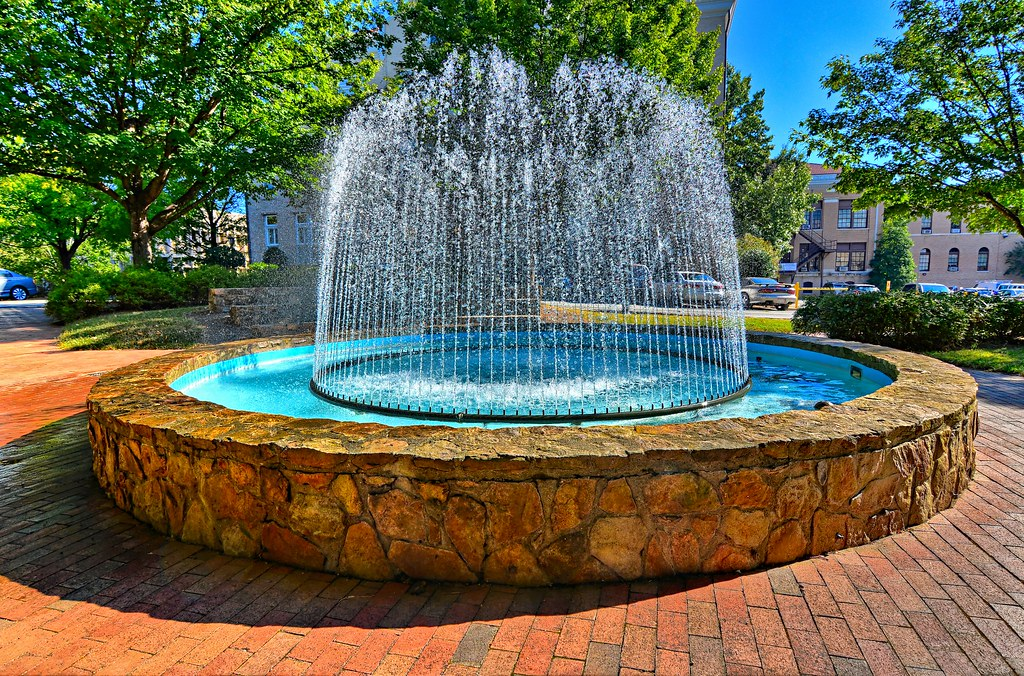 Fountain at North Carolina Univ