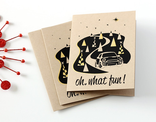 Oh, What Fun! Mini Cooper Holiday cards
