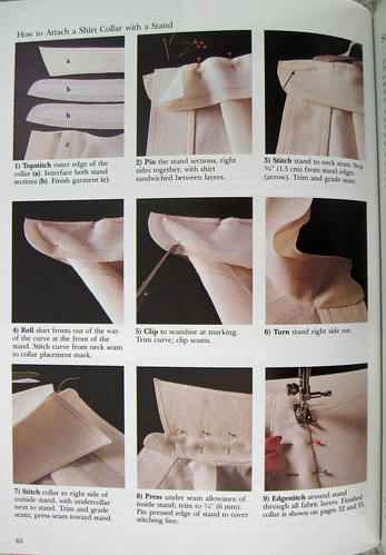 Style book page collar stand