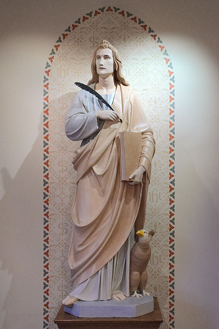 Saint John the Evangelist Roman Catholic Church, in Paducah, Kentucky, USA - statue of Saint John