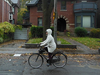 Cyclist in White, Brunswick Avenue