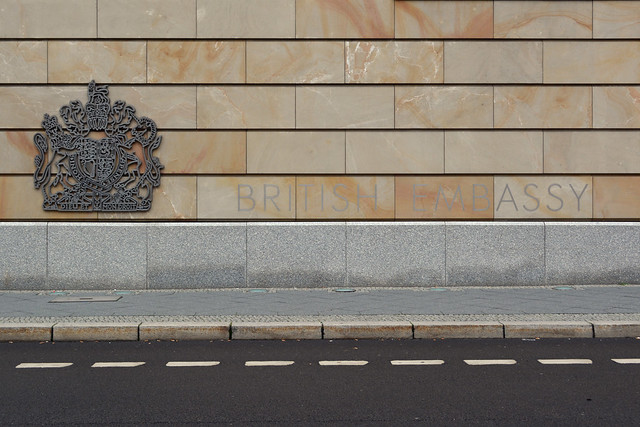 Lettering on the British Embassy in Berlin