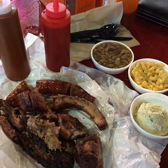 No trip to #Texas is complete without some good ol' backyard #BBQ. This BBQ heaven. #local #food #DinersDriveInsandDives