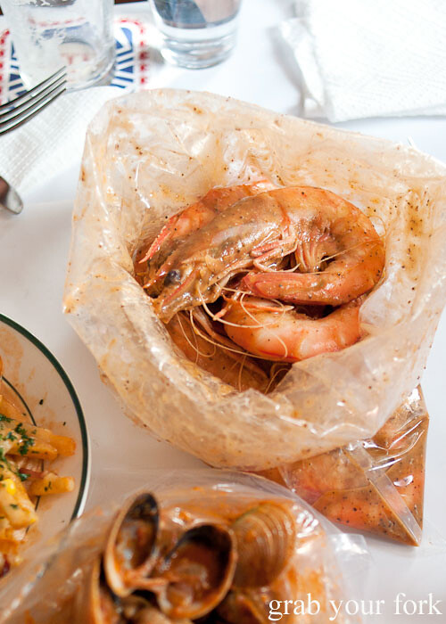 Queensland prawns at House of Crabs, Norfolk Hotel, Redfern