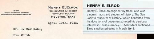 Henry Elrod letterhead