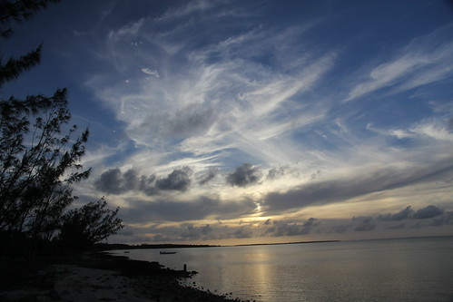 sunset water clouds day cloudy bahamas rocksound eleuthra