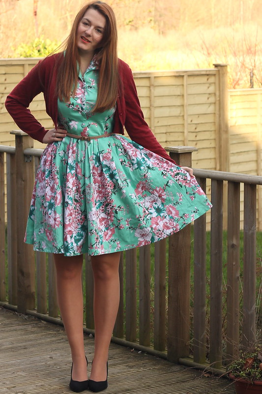 uk style blog, floral dress