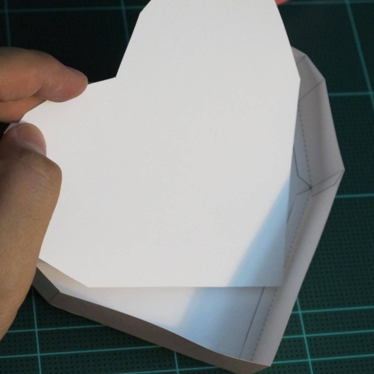 วิธีทำโมเดลกระดาษเป็นกล่องของขวัญรูปหัวใจ (Heart Box Papercraft Model) 014