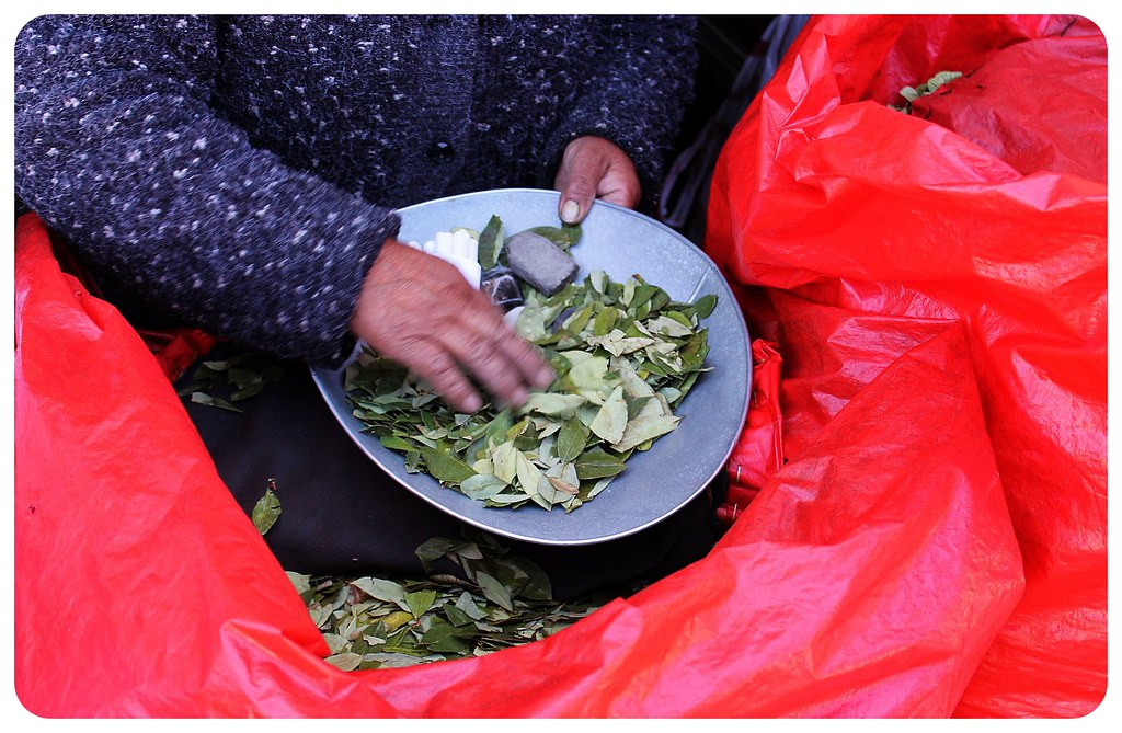 potosi coca leaves vendor