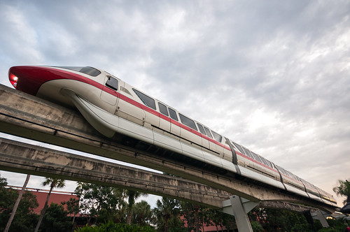 Monorail Monday - Cloudy Sunrise Stretch by Jeff.Hamm.Photography