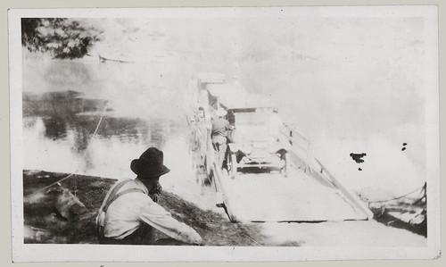 Man watching ferry