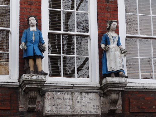 Scary looking figures at St. Mary Rotherhithe School