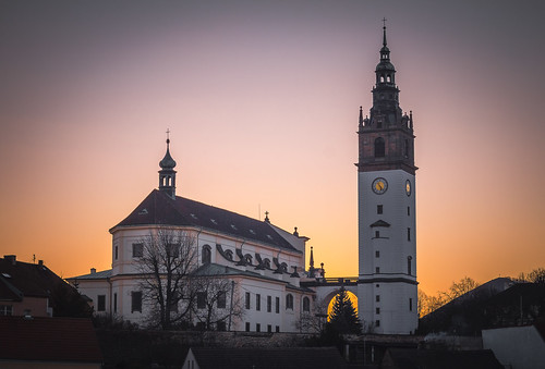Sun set in Litomerice by Zdenek Papes