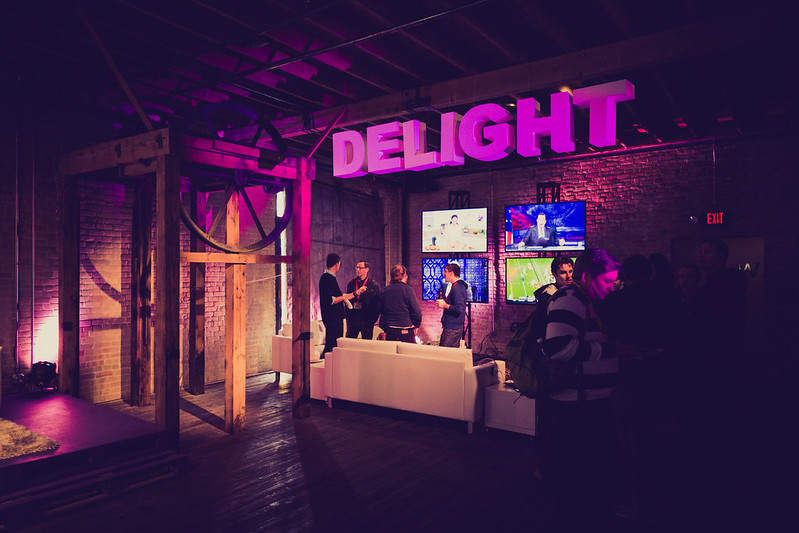 Delight Sign at Yahoo! During SXSW