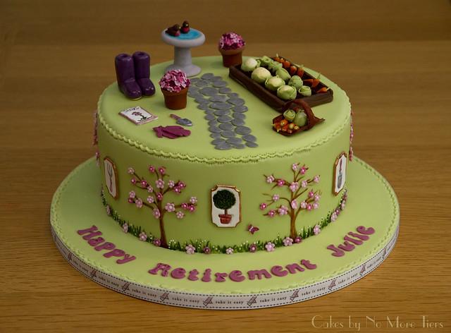 Gardening Retirement Cake A Gardening Themed Retirement