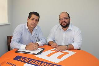 Pastor Leonardo Simões, pré-candidato a deputado estadual, tem reunião na sede do Solidariedade