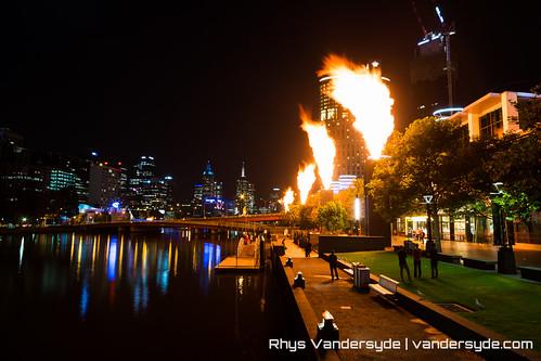 Crown Casino Fire Show - Melbourne, Australia, 2014