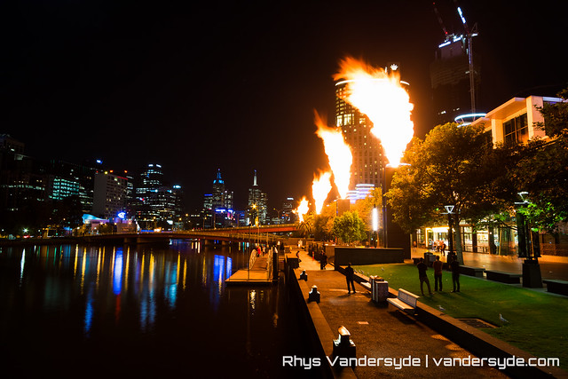 Crown Casino Fire Show - Melbourne, Australia, 2014