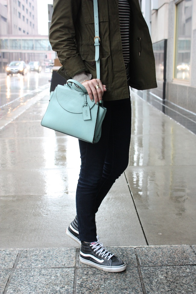 chelsea+lane+truelane+zipped+blog+minneapolis+fashion+style+blogger+madewell+utility+jacket+gap+stripe+tee+kate+spade+saturday+mini+a+satchel+steel+blue+vans+leather+sk8+hi6