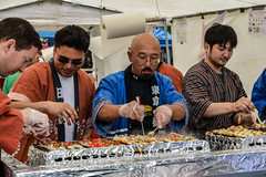 Making Takoyaki at the Cherry Blossom Festival