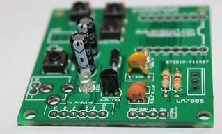 8- Solder capacitors and resettable fuse 300mA