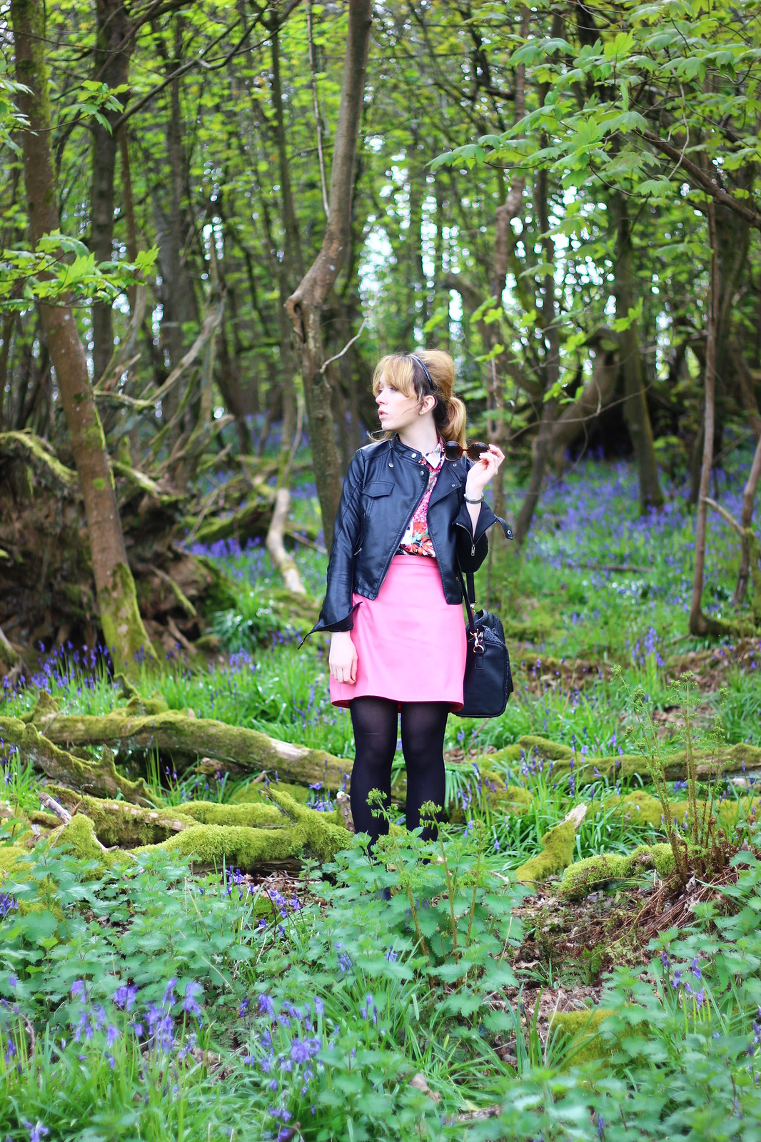 2bluebells, spring, fashion, florals, zara, high street, blog, personal style, river island, ebay, leather jacket, affordable, retro, 60's, sixties, topshop