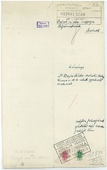 VI/3. Dr. Bajor Sándor zsidó orvos, hivatkozva édesapja 1919-ben Szamuelyék által történt kivégeztetéséért járó mentességére, kérelmezi nyolc hónapos terhes felesége mentesítését a gettóba vonulás alól.  mnljnszml6_2c