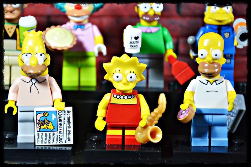 The Simpsons LEGO minifigures