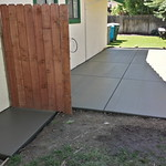 New Concrete Side Yard In Dixon