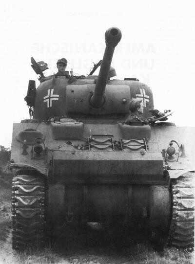 "US/British ""Sherman Firefly"" tank captured by Germans"