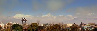 ANAPURNA FROM POKARA AIRPORT NEPAL FEB 2013