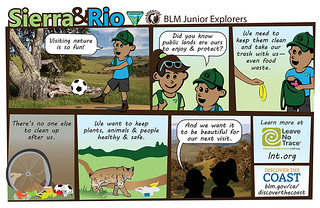 Sierra & Rio BLM Junior Explorers.  I love hiking the desert during winter, Sierra exclaims. Me too, says Rio, but where are all the tortoises?  Desert tortoises hibernate during the cold winter months.  It's called brumation.  When will they wake up, asks Rio.  That's a great question, answers Sierra.  Every year there's a contentest where kids guess when Mojave Maxine will come out of her burro.  You can make a guess at livingdesert.org  Discover the Desert  www.blm.gov/ca/DiscoverTheDesert