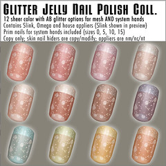 Hipster Fair Exclusive Glitter Jelly Nails