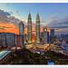 Petronas Twin Towers in Kuala Lumpur, Malaysia by TOONMAN_blchin