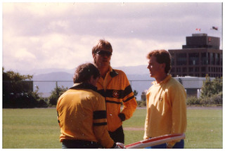 Bruce Reid, Craig McDermott & Geoff Marsh at Victoria University Wellington - 1986